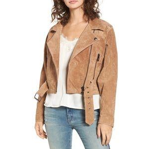 Blank NYC Suede Dolman Sleeve Moto Jacket